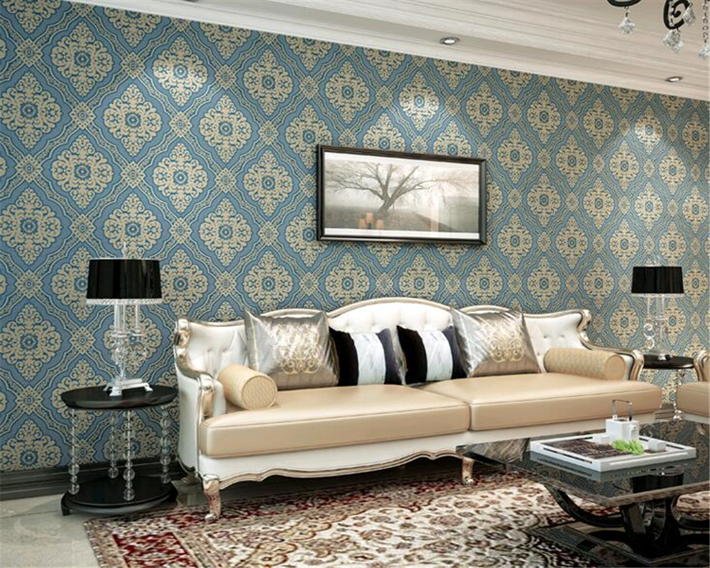 ФОТО Beibehang Luxury high-end 3D European TV background wallpaper bedroom living room sofa home decoration wallpaper roll