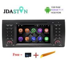 JDASTON 1G+16G 1 Din 7 Inch Android 7.1 Car Multimedia DVD Player for BMW E39 X5 M5 E38 E53 BT FM 3G WIFI GPS Navigation Radio