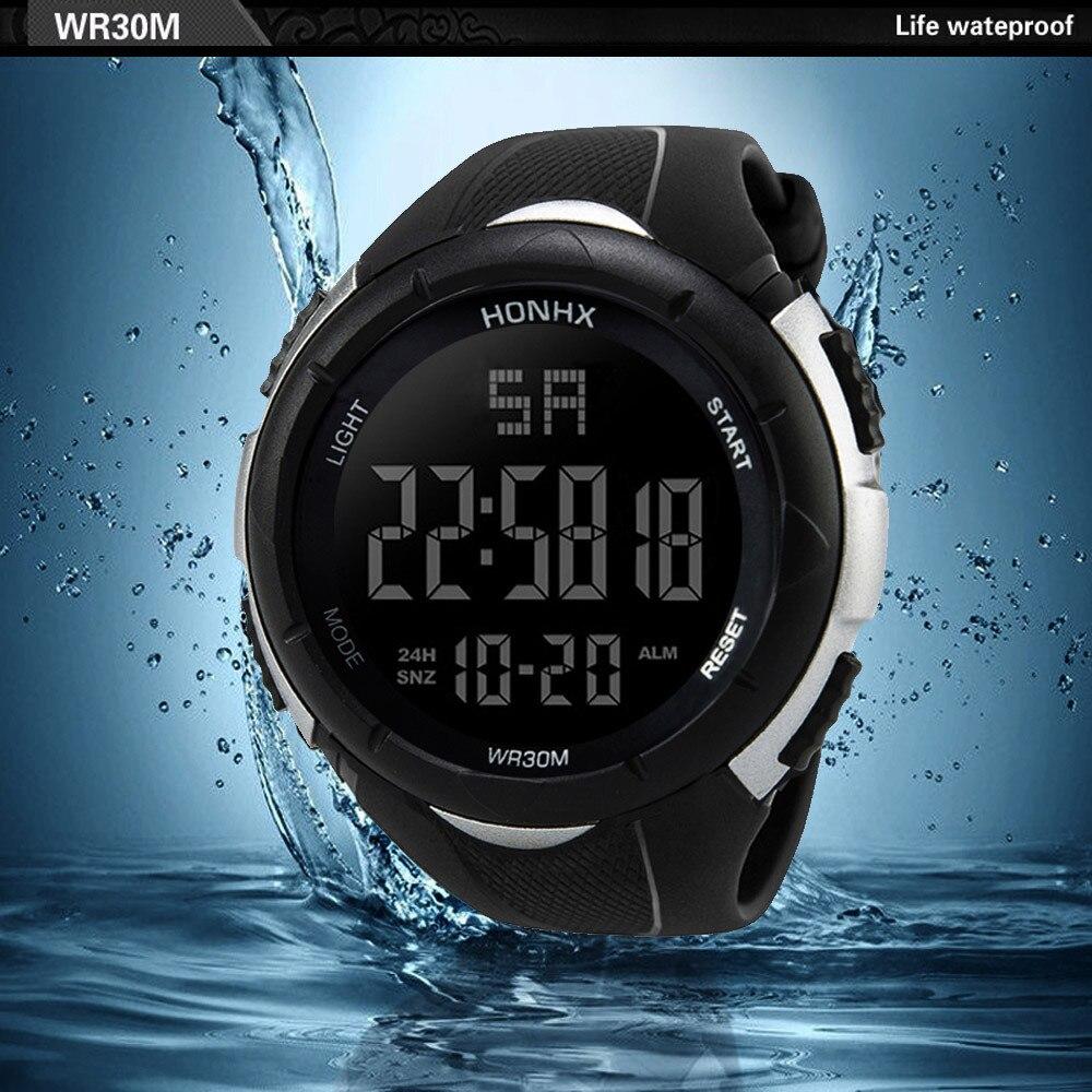 NEW Relogio masculino Luxury Men Analog Digital watches Military Sport LED Waterproof Wrist Watch super quality clock gift @7