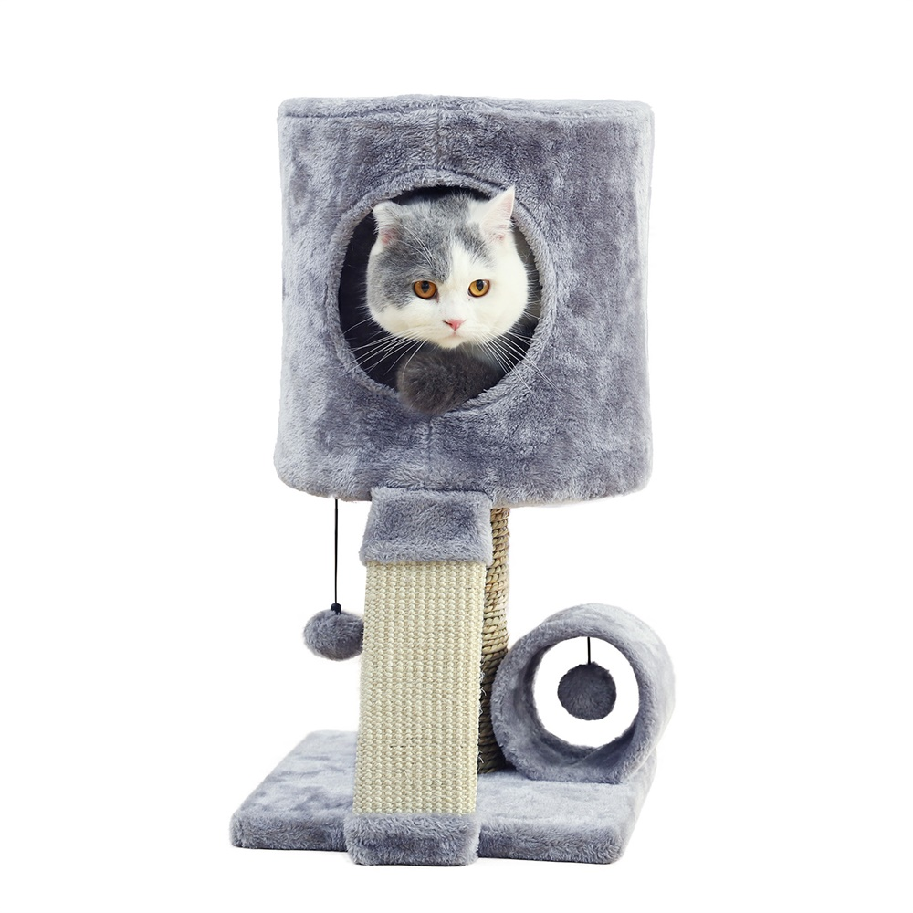 Luxury Cat Tree Tower Multi-functional Cat Condo Cat Furniture With Sisal Scratch Post Toy For Kitten Warm Cat House