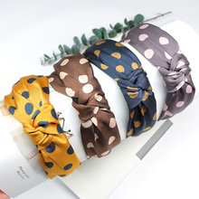 Hair Accessories Women Bow Polka Dot Hairbands Head Wrap Korean Cotton Fabric boho turban Headband Band