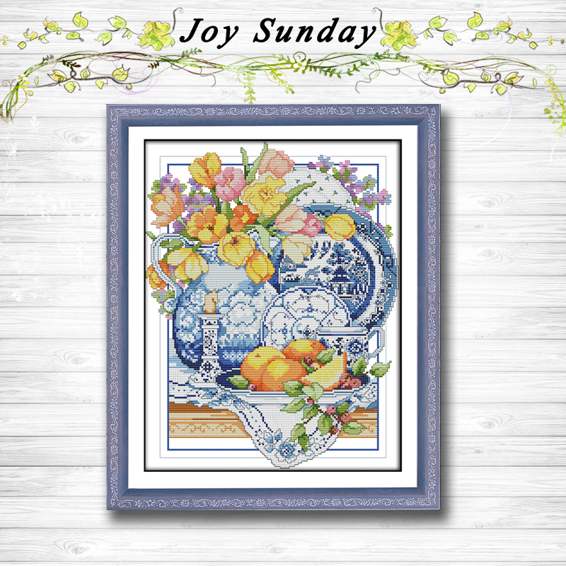 Poppy And Cherry Counted Cross Stitch Kit Embroidery For Home Decorations Free Shipping Diy Stitch Kit Chinese Cross Stitch Package Home & Garden