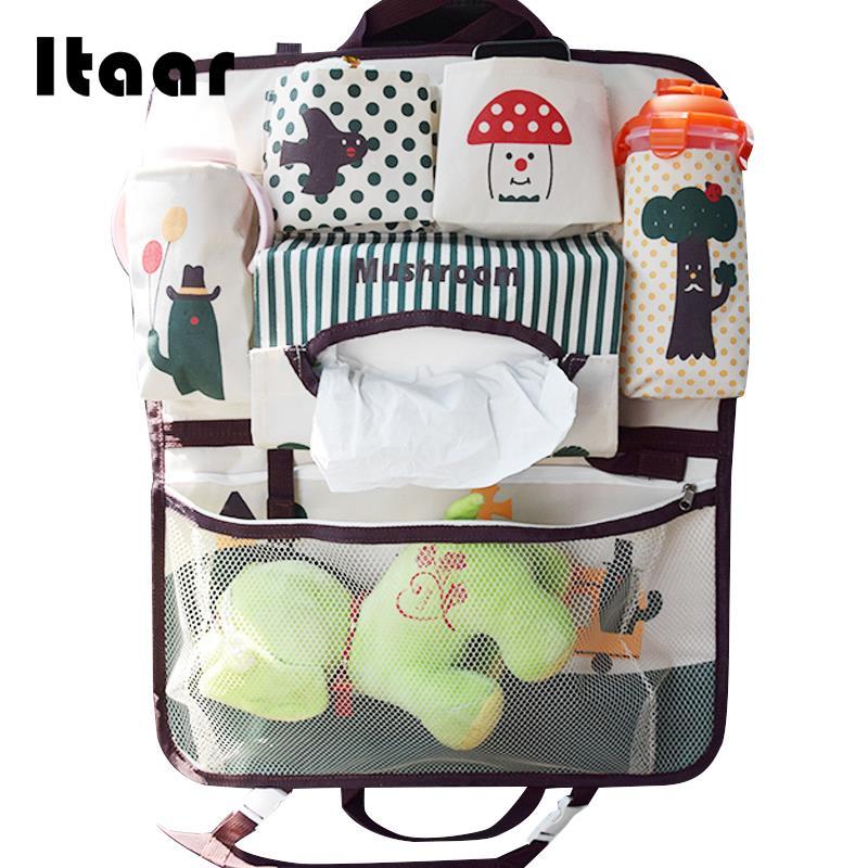 Car Storage Bag Backseat Car Seat Pocket 3 Patterns Tidying Car Seat Bag Useful Cartoon