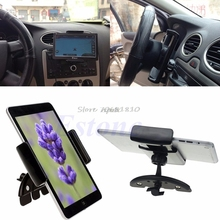 360 Degree Universal Car CD Slot Stand Holder Mount For iPad Mini 2 3 4 7inch Tablet Z09 Drop ship