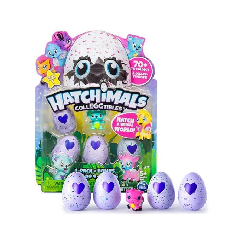 Hatchimals eegs mini Cute Pets magic egg puzzle simulation hatching childrens Colleggtibles toys Including (4 eggs + Bonus)