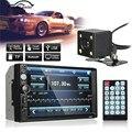 7 Дюймов Автомобиля Bluetooth Аудио Стерео Радио MP5/MP3 Плеер FM USB AUX Full HD С Сенсорным Экраном 120 Dergree Заднего вида камера