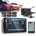 7 Inch Bluetooth Car Audio Stereo Radio MP5/MP3 Player FM USB AUX Full HD Touch Screen 120 Dergree Rear View Camera