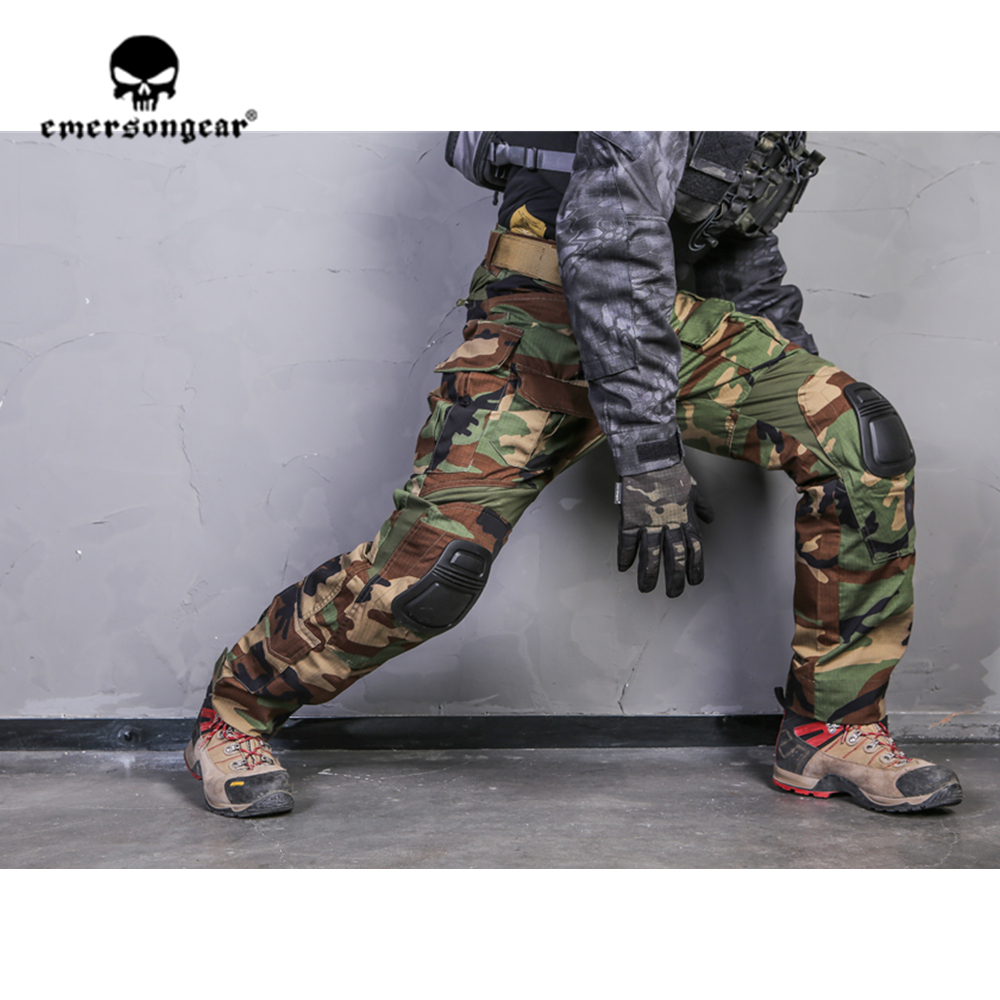 emersongear Emerson Woodland G3 Tactical Combat Hunting Uniform MC Airsoft Wargame Mens Outdoor Shirt Pants Outdoor