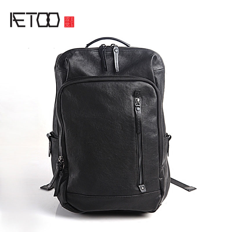 AETOO Pure leather Europe and the United States Japan and South Korea fashion retro bag leather leather casual daily travel back aetoo europe and the united states fashion new men s leather briefcase casual business mad horse leather handbags shoulder