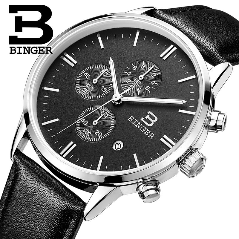 2018 Switzerland relogio masculino BINGER Chronograph Men Watches Sports waterproof Quartz Watch Luxury Brand Watch Men BG9201 1|watch brand|watch brand men|watch men -
