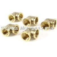 5pcs 90 Degree Elbow 1 2 PT To 1 2 PT F F Brass Pipe Fitting