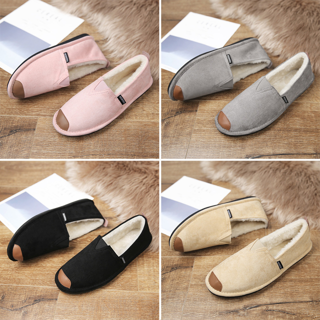 ARANSUE warm winter Snow shoes Fashionable fisherman shoes Flats Furnishing Cotton-padded shoes light loafers good wear