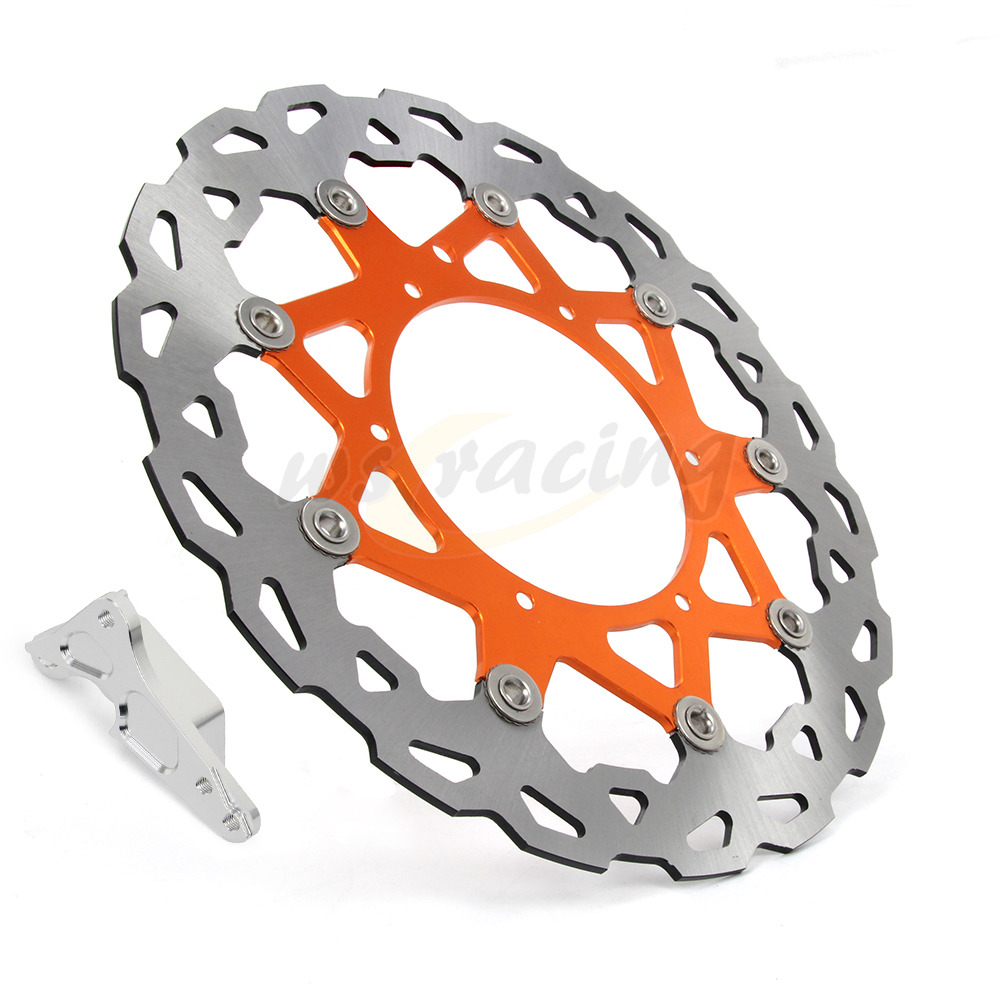 320MM Front Floating Brake Disc Bracket Adapter For KTM XCFW SX XC SXF EXC XCF XCW 125 144 150 200 250 300 350 400 450 505 530 цены