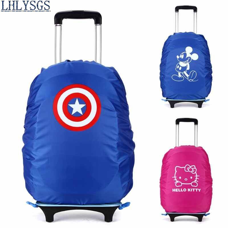 LHLYSGS Brand 35L Fashion Trolley Bag Rain Cover School Student Bag Protective Cover School Backpack Protection Accessories