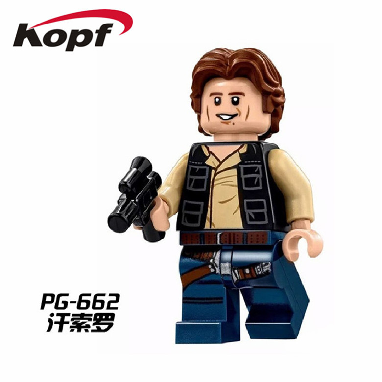Star Wars Han Solo Palpatine Bricks Building Blocks Super Heroes Action Figures Children Christmas Gift Toys PG662 12pcs set children kids toys gift mini figures toys little pet animal cat dog lps action figures