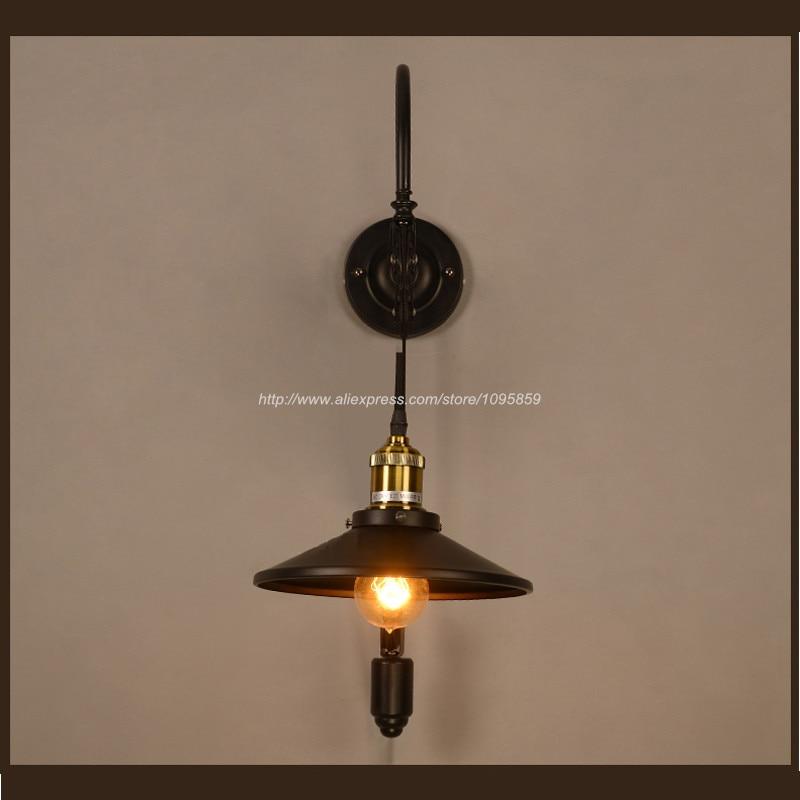 Vintage Wall Lamp Light Pulley Metal Sconce Fixture Lighting Bar Indoor Lamps lampara de pared de polea кастрюля supra sad s282c