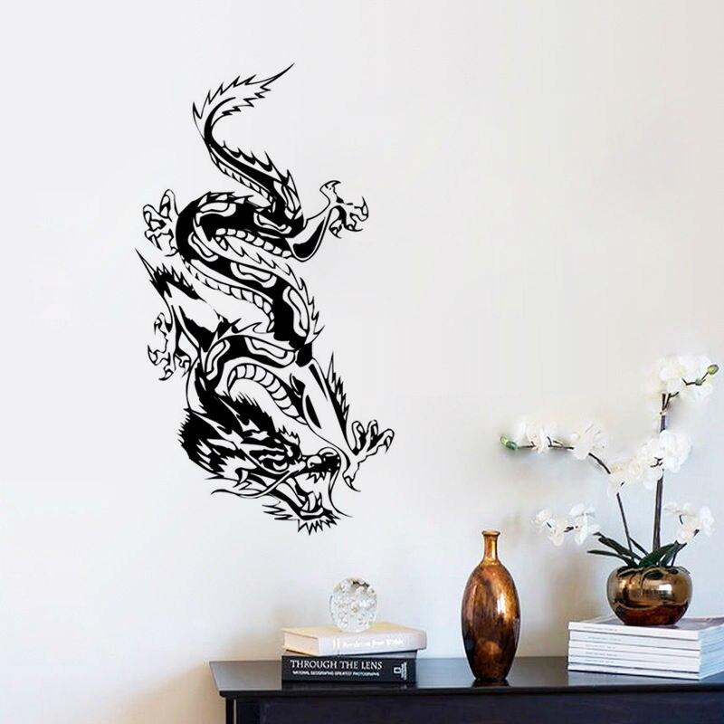 oriental dragon wall sticker loong wall decal morden art mural