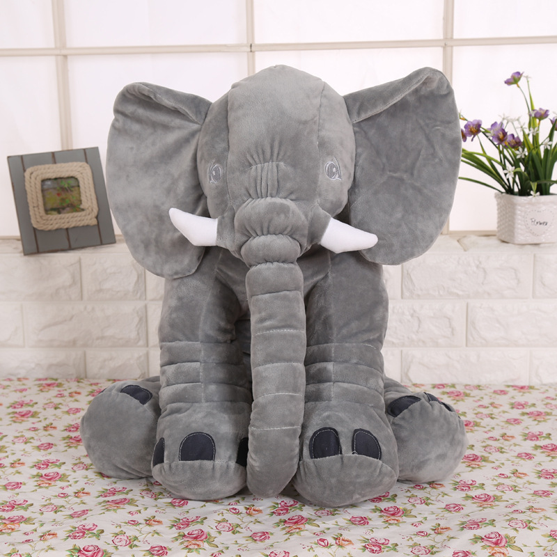 30cm High Quality Plush Elephant Doll Toy Kids Sleeping Back Cushion Cute Stuffed Elephant Baby Accompany Doll Christmas Gift