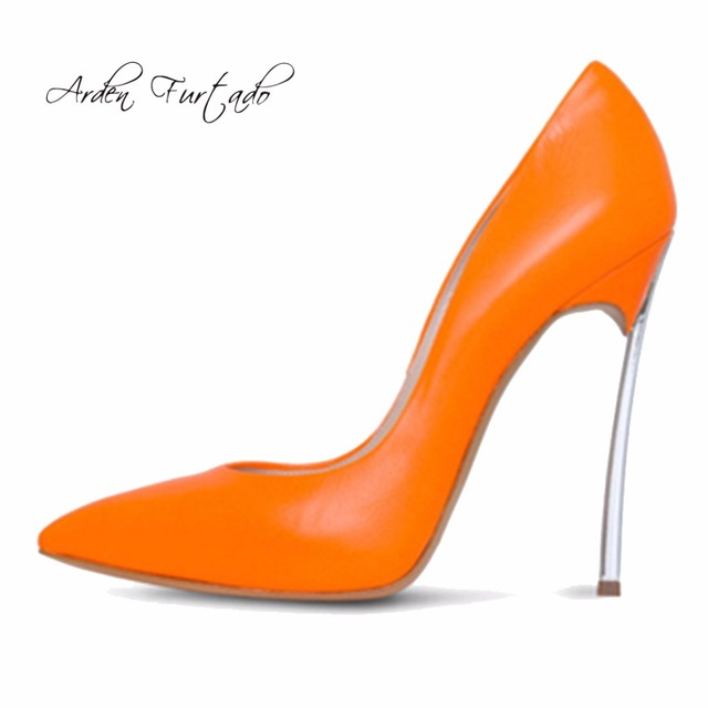 Brand Shoes Woman Red High Heels Pumps 12CM Women Wedding Shoes Black Nude  orange yellow white slip-on Shoes pointed toe 12cm 154dce64c432