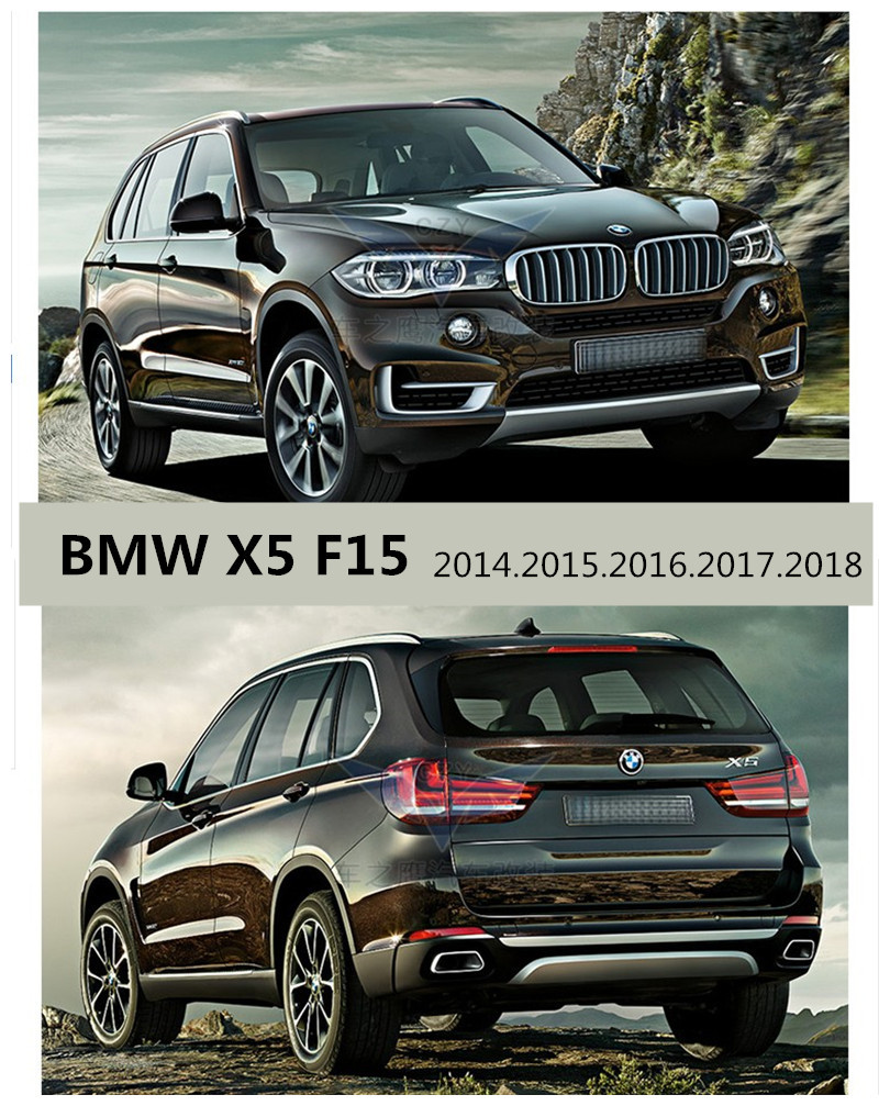 For BMW X5 F15 2014.2015.2016.2017.2018 BUMPER GUARD BUMPER Plate High Quality Stainless Steel / ABS Front+Rear Auto Accessories