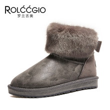 ФОТО 2018 new arrival thickening villus women snow boots short boots pantshoes bowknot lady warm boots winter shoes
