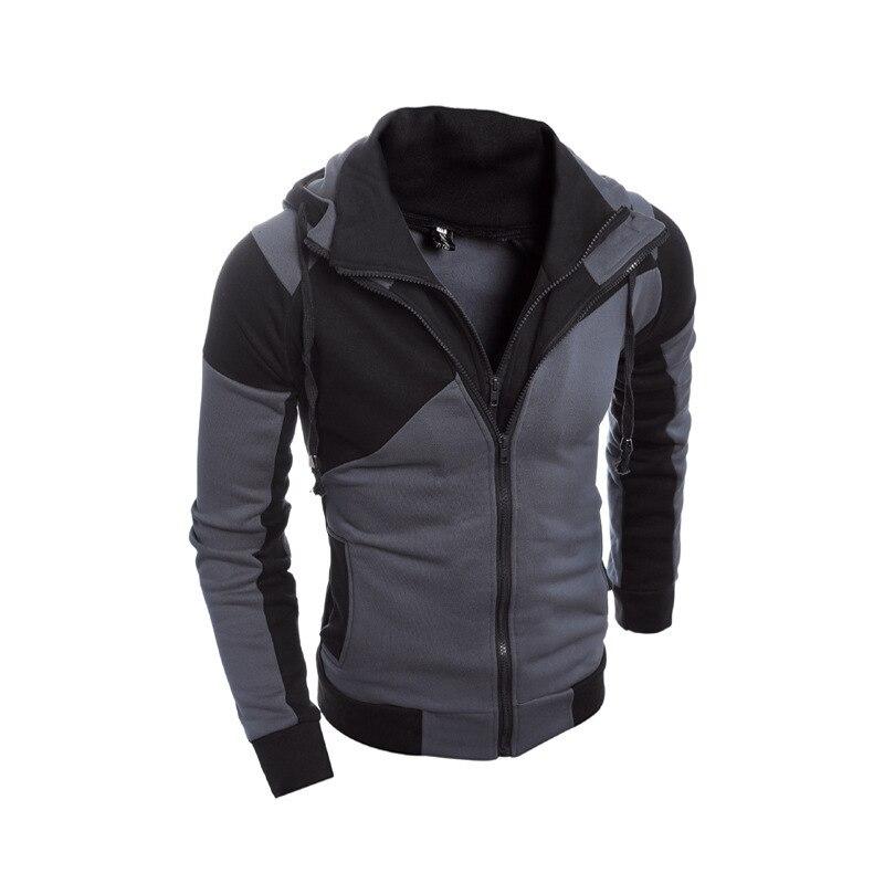 IceLion 2020 Autumn Hoodies Men Patchwork Zipper Cardigan Sweatshirts Slim Fit Sportswear Fashion Casual Tracksuit 2