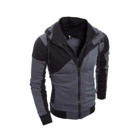 IceLion 2019 Autumn Hoodies Men Patchwork Zipper Cardigan Sweatshirts Slim Fit Sportswear Fashion Casual Tracksuit Dropshipping Karachi
