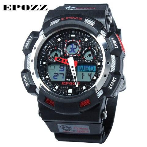 Digital para Homem à Prova Relógios de Mergulho Epozz Marca Novo Relógio Dwaterproof Água 100m Moda Esporte Data Casual 3001