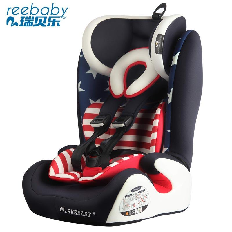 Reebaby Child Safety Seat Car Isofix Interface 9 Months -12 Years  old baby chair europen ece child car safety seats high quality isofix baby car seat for 9 months 12 years old children boys girls