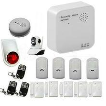 APP Controlado WIFI GSM Sistema de Alarma de Seguridad Inalámbrica Inteligente GPRS Antirrobo Casa Sistema de Seguridad Con Cámara IP Inalámbrica