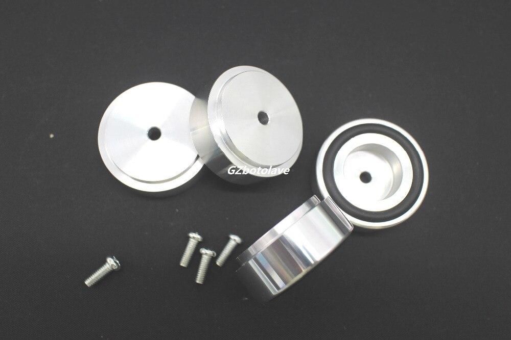 4 stücke D44 * H17 aluminium HIFI lautsprecher sound lasten leistungsverstärker fuß dämpfung pads Suspension fesseln