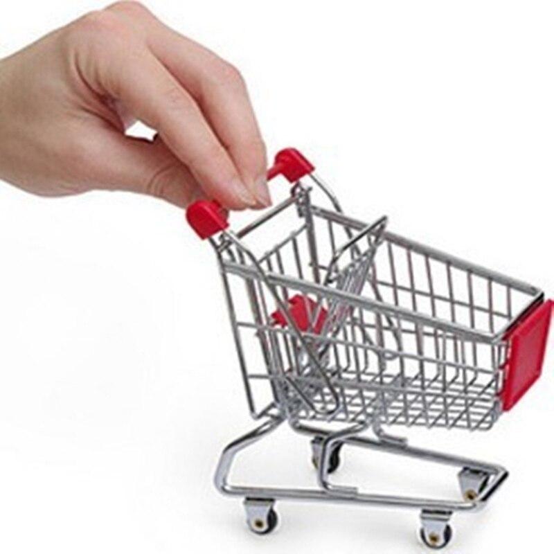 Мини Супермаркет Handcart Торговый тележки модели телефон ручка рабочего Storage отделки зеленый Организатор владельца Детские игрушки
