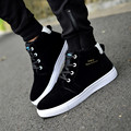 1 Pair Plush Winter Boots Great Leather Casual Shoes High Top Men Flats Pig Suede Man Walking Shoes Cheap Wholesale