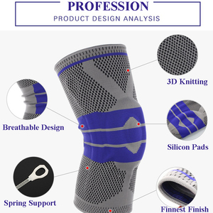1PC Elastic Knee Support Brace Kneepad Adjustable Patella Volleyball Knee Pads Basketball Safety Guard Strap Protector(China)