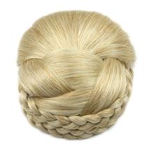Soowee 6 Цветов Трикотажные Плетеный Волос Chignon Высокая Температура Волокна Синтетические Волосы Donut Поддельные Пучок Волос
