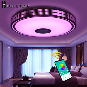 Image 3 - Lustres Modern LED Chandelier For Living room Bedroom Lampara techo Led Ceiling Chandeliers Lighting Bluetooth Control With Lamp