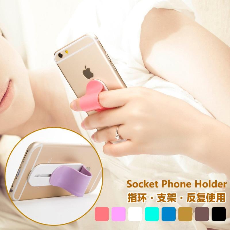 Universell mobiltelefonhållare Fingerstativ - Reservdelar och tillbehör för mobiltelefoner - Foto 3