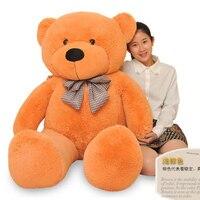 stuffed animal 140 cm teddy bear plush toy soft bear doll light brown colour gift w2924