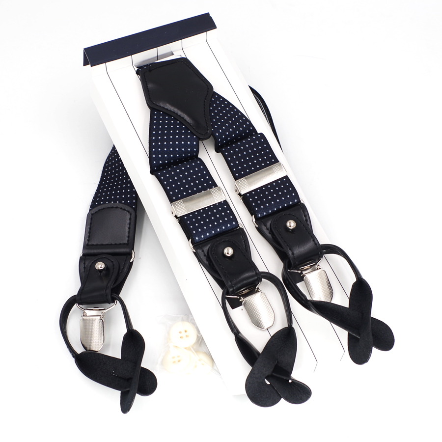Mans Suspenders Fashion Button Braces 3 Clips Dual Braces Casual Suspensorios Adjustable Belt Strap ligas Tirantes 3.5*120cm