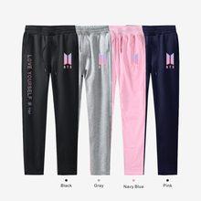 BTS KPOP pants 100 cotton love yourself Trousers casual Sweatpants Jogger Pants slim fit k pop