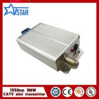 Мини CATV FTTH 1550nm оптический передатчик 6 мВт