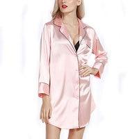 SCECENT Sexy Phụ Nữ Robe Thời Trang Đêm Dressing Gown Đối Với Phụ Nữ Lụa Rắn Satin Cưới Cô Dâu Choàng Tắm Girl của Đồ Ngủ Áo Sơ Mi