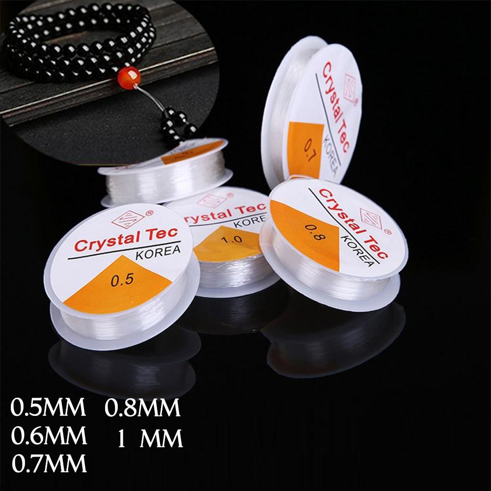 1 Rolle 0,5mm-1mm Transparent Stretch Elastische Perlen Seil Schnur/string/gewinde Diy Für Schmuck Machen Armband & Halskette Gut FüR Energie Und Die Milz