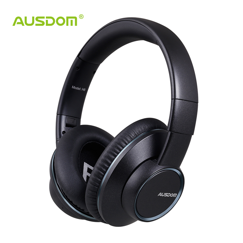 buy ausdom h8 wireless bluetooth headphones over ear stereo headphone enhanced. Black Bedroom Furniture Sets. Home Design Ideas