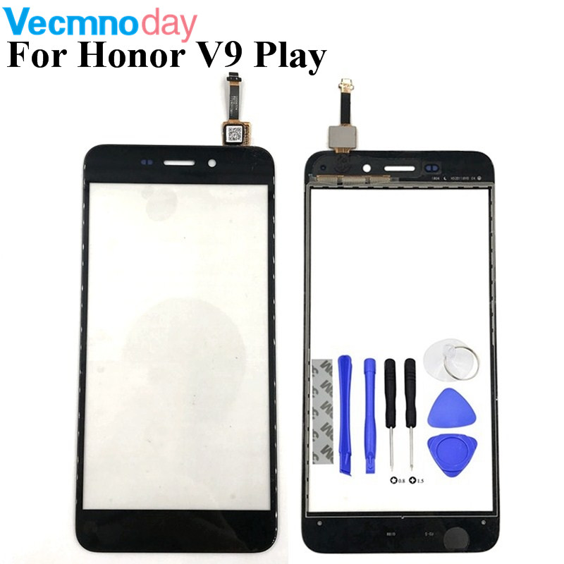 Vecmnoday High Quality New Front panel Touch Screen Digitizer For Huawei Honor V9 Play / Honor 6C Pro Phone Sensor Parts