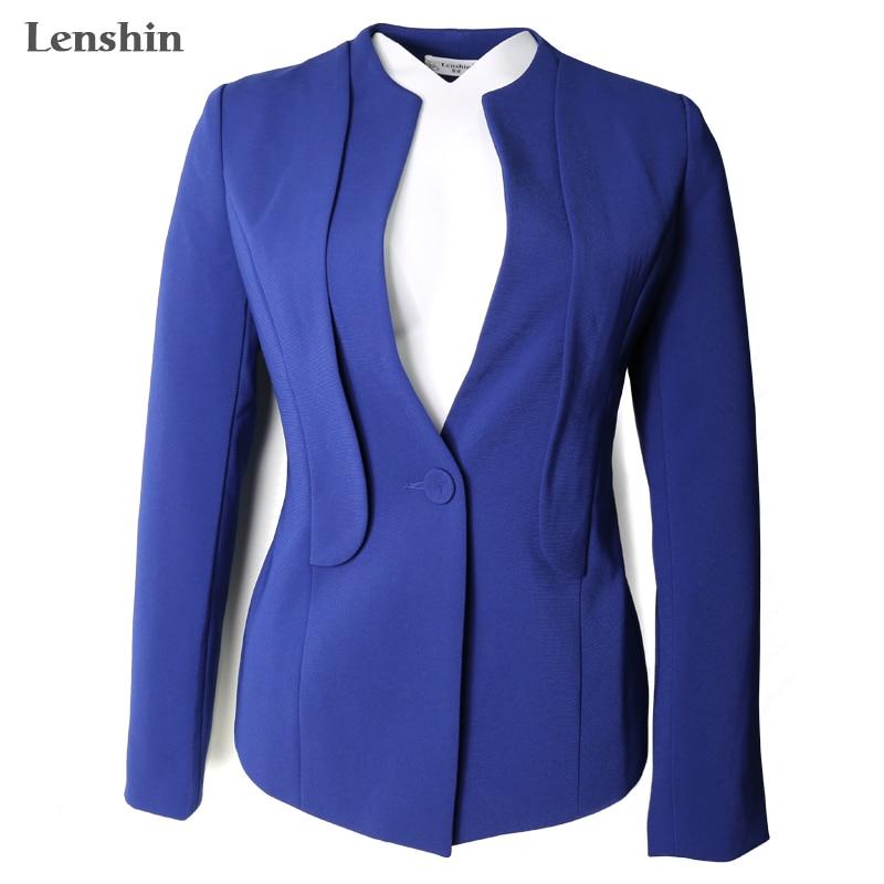 Aus Dem Ausland Importiert Lenshin Spezielle Bieten Blazer Jacke Büro Dame Mantel Business Formale Tragen Anzüge & Sets