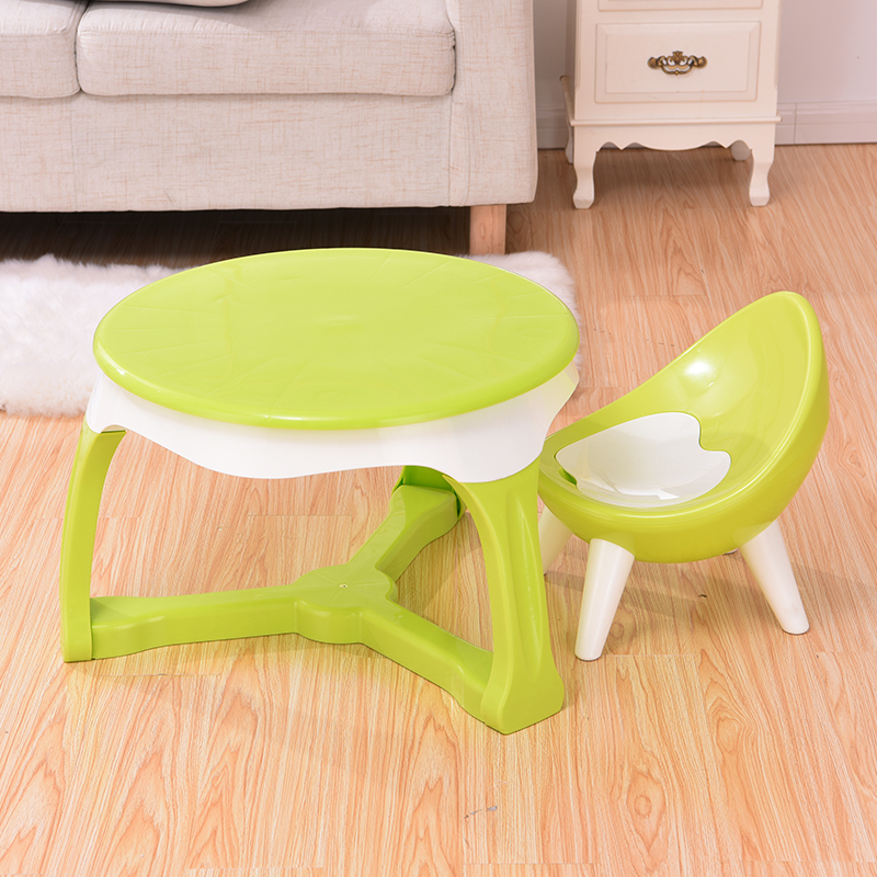 Kids Plastic Table and Chairs Set Multi Colored Children Activity Table and Chairs for Playroom Includes 1 Table and 1 Chairs
