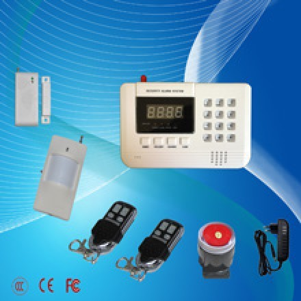 GSM&PSTN security alarm system with LED display and keyboard , GSM &PSTN alarm with wired and 99wireless