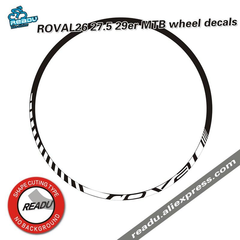 Roval montanha bicicleta roda aro adesivos roval mtb roda decalques uso mtb jantes decalques rodado adesivos de bicicleta adesivos