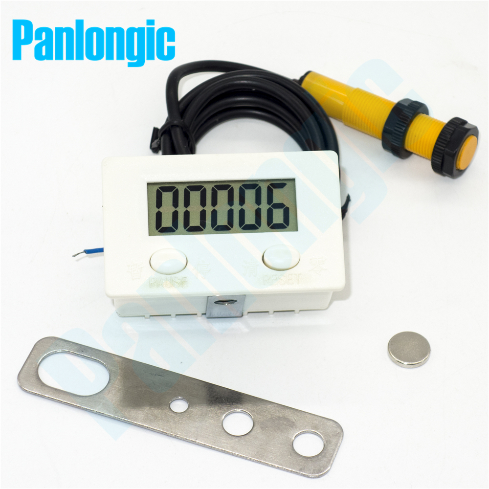 Proximity Switch Sensor LCD Digital 0-99999 Counter 5 Digit Plus UP Gauge